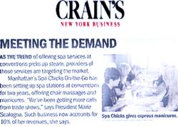 Crains Business X Spa Chicks