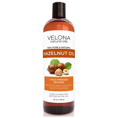 Hazelnut Oil by Velona Refined Cold pressed Cooking Skin Face Hair