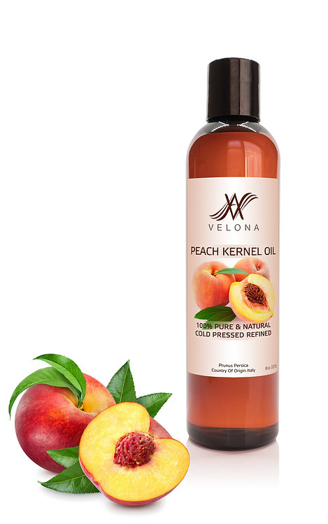 Peach Kernel Oil by Velona Refined Cold pressed Skin, Hair Body Face