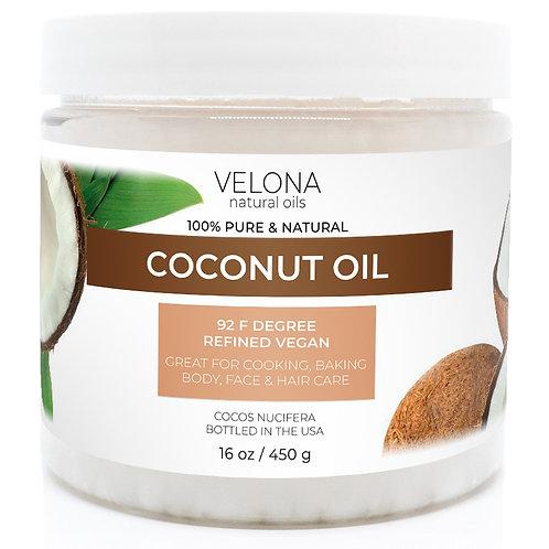 Coconut Oil 92 Degree by Velona in jar Refined Cold pressed Skin Body