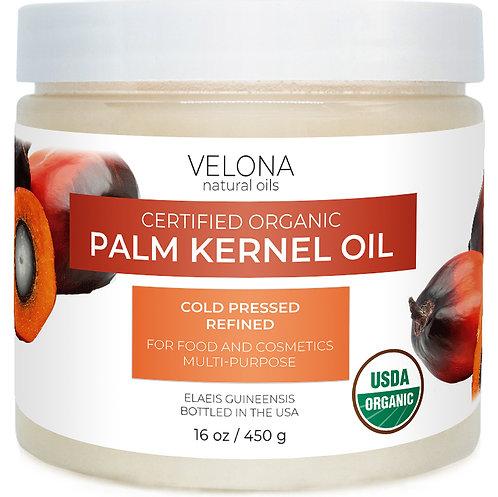 Velona USDA Certified Organic Palm Kernel Oil 2 oz -7 lb Refined Cold Pressed