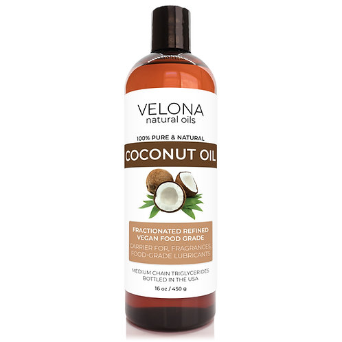 Coconut Oil by Velona Fractionated Ultra Refined Skin Face Body Hair
