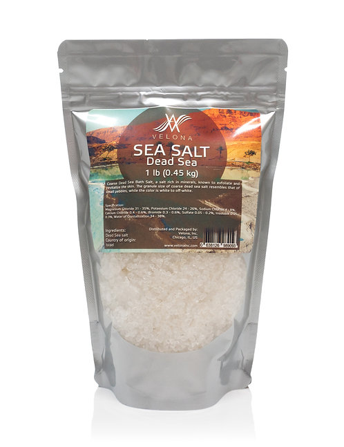 DEAD SEA BATH SALT 100% PURE & NATURAL COARSE VELONA