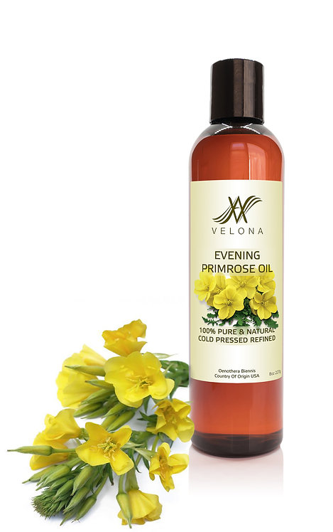 Evening Primrose Oil by Velona Cold Pressed & Cold Filtered | Face Hair