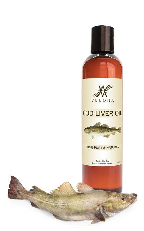 COD LIVER OIL 100% PURE & NATURAL NORWEGIAN OIL VELONA