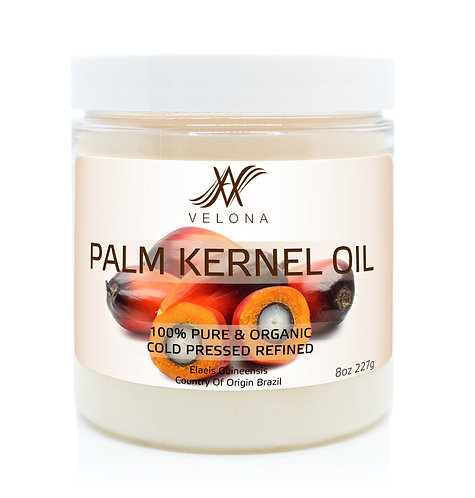 Palm Kernel Oil 100% PURE & NATURAL Cold Pressed REFINED VELONA in jar