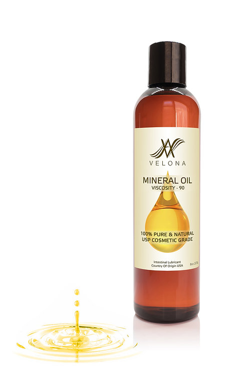 Mineral Oil 90 Viscosity NF USP Grade by Velona Pure Natural Carrier