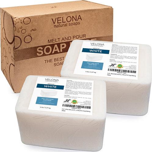 White Melt and Pour Soap Base by Velona | SLS/SLES Free