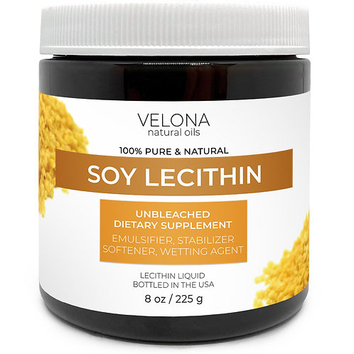 Soy Lecithin by Velona Unrefined, Cold Pressed, Hair Body Skin Care