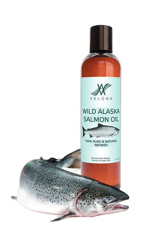 WILD ALASKA SALMON OIL 100% PURE & NATURAL REFINED VELONA