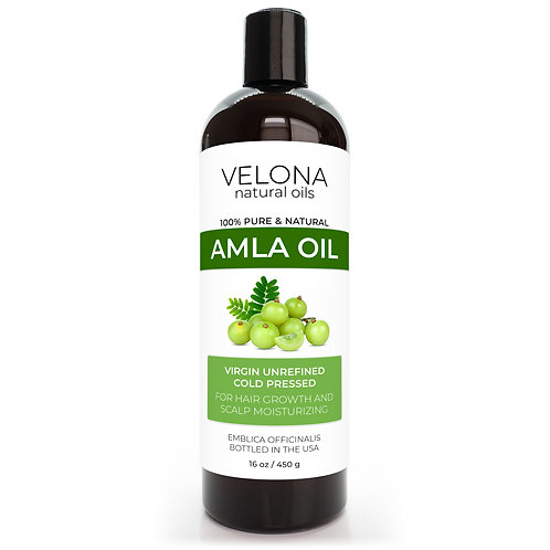 Amla Oil by Velona Extra Virgin, Unrefined, Cold Pressed, Hair Growth