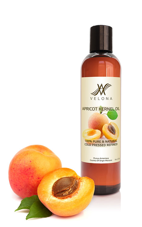 Apricot Kernel Oil REFINED NATURAL CARRIER Cold Pressed 100% PURE VELONA