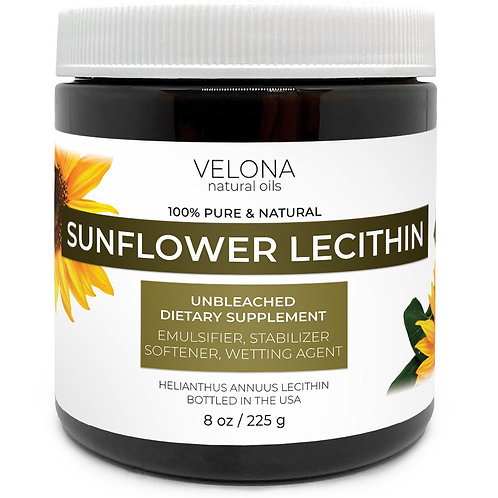 Sunflower Lecithin by Velona Unrefined Cold Pressed Hair Body Skin Care