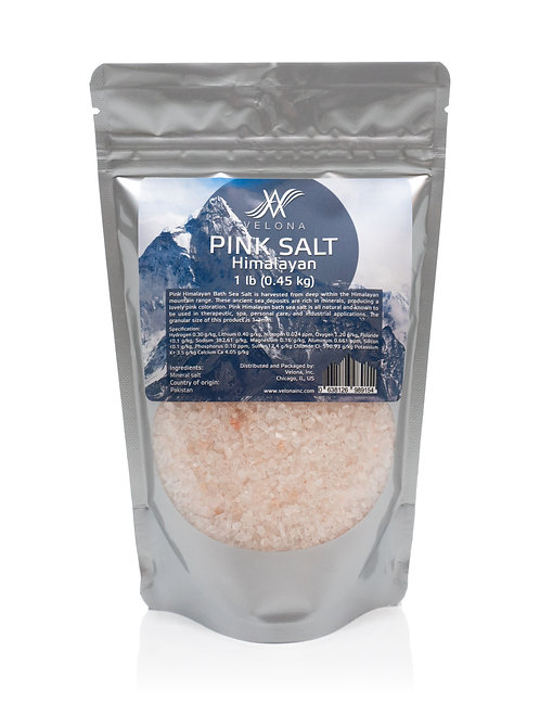 HIMALAYAN PINK BATH SEA SALT 1lb-25lb 100% PURE & NATURAL 1-3MM GRAIN VELONA