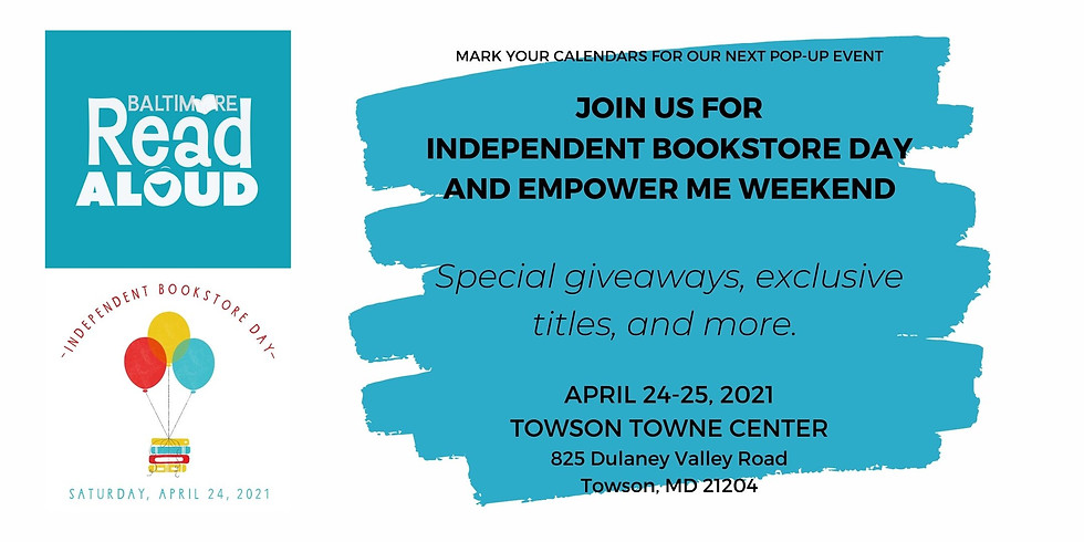 Independent Bookstore Day Pop-up