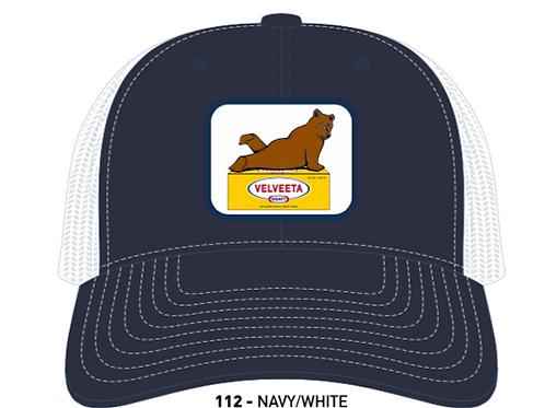 VELVEETA BEAR- Navy/White