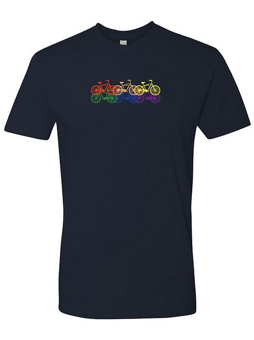UNISEX CREW-6 Rainbow Bikes Navy