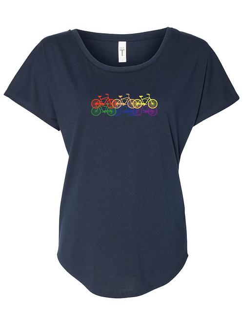 WOMEN'S SCOOP NECK-6 Rainbow Bikes