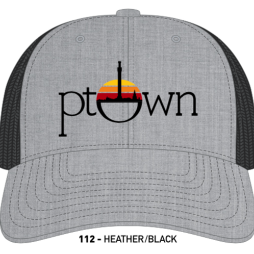 PTOWN CIRCLE-Heather Grey/Black