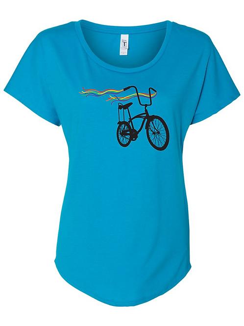 WOMEN'S  SCOOP NECK-Bike Pride