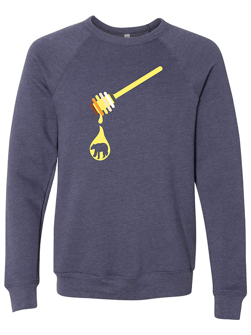 UNISEX SWEATSHIRT-Honey Dipper Navy