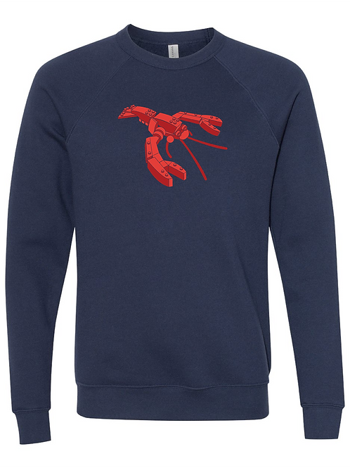 UNISEX SWEATSHIRT-Lego Lobster Navy
