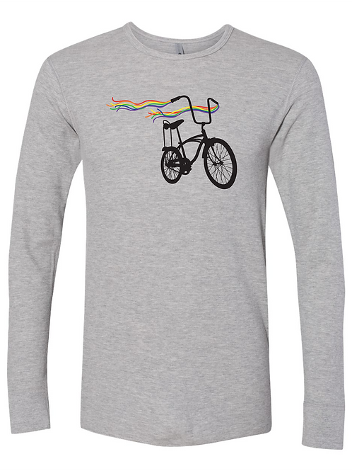 UNISEX THERMAL-Bike Pride Heather Grey
