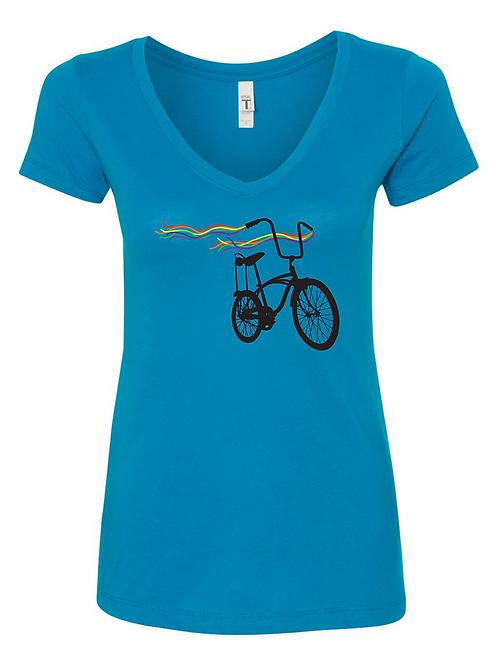 WOMEN'S V NECK-Bike Pride
