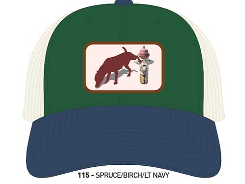 DOG & HYDRANT-Spruce/Birch & Light Navy