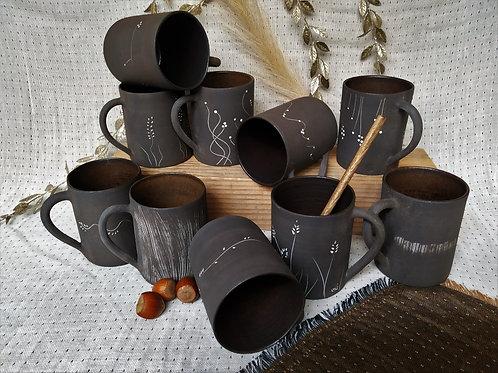 Mug grés noir
