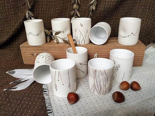 Café sans anse porcelaine