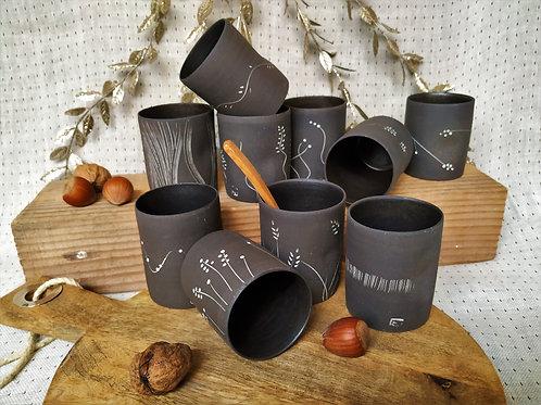 Café sans anse grés noir