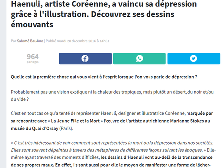 France news website updated Haenuli's art work