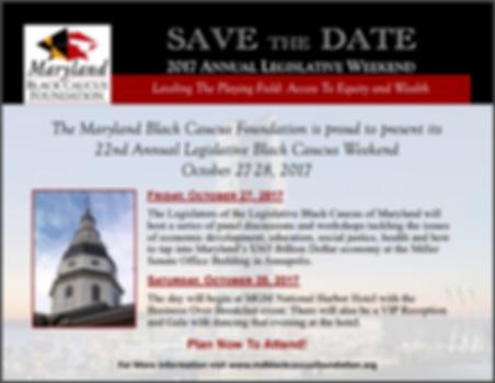 2017 Maryland Black Caucus Annual Legislative Weekend