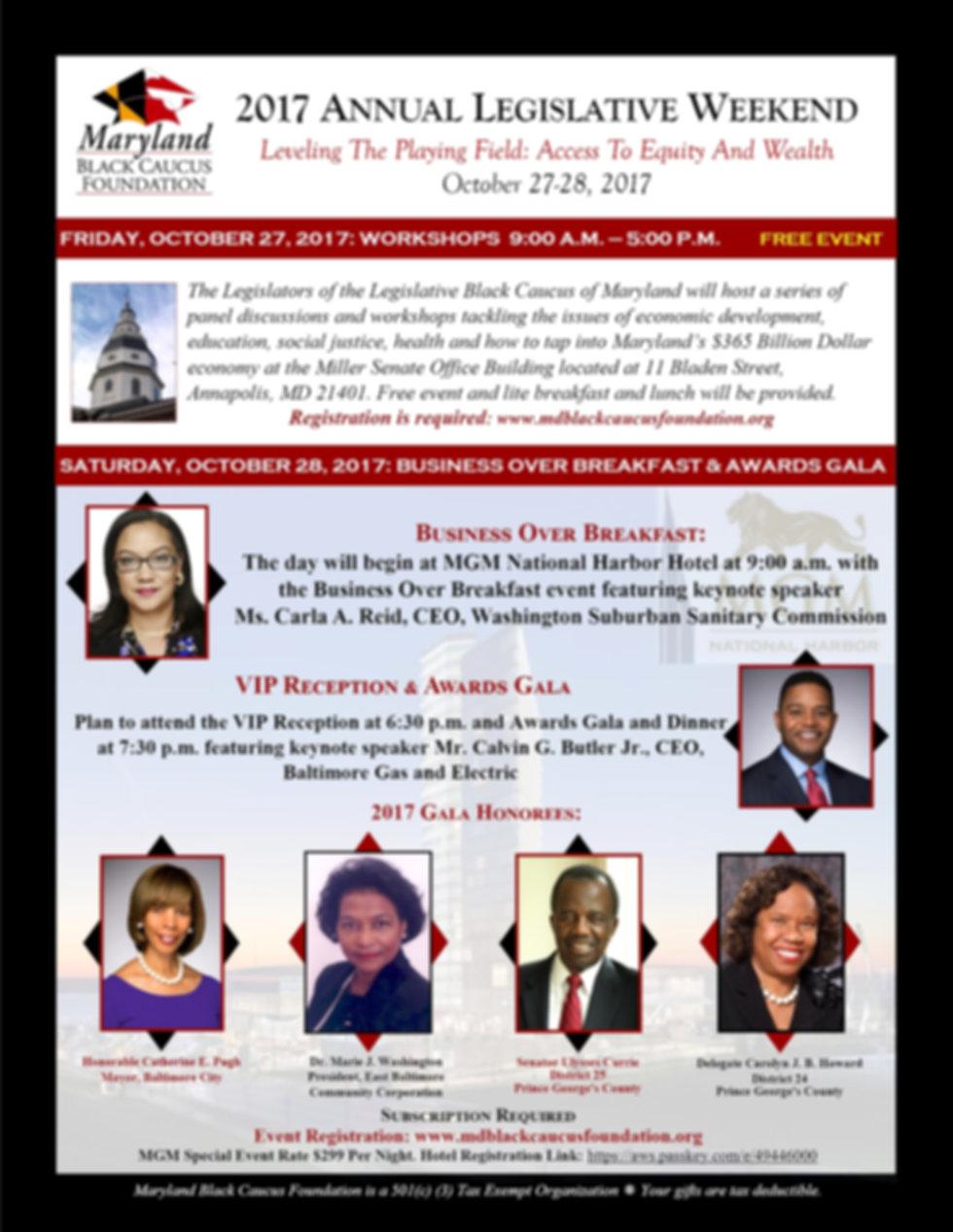 2017 Maryland Black Caucus Foundation Legislative Weekend