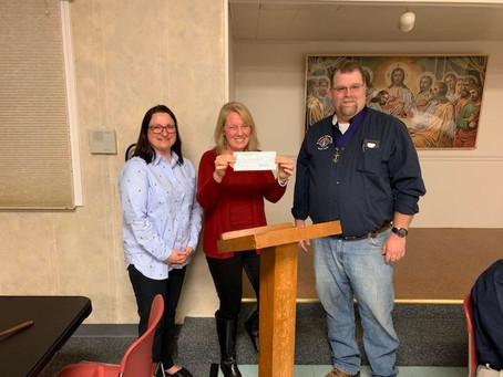 St. Thomas Chapter of the Knights of Columbus –(Fortville) donates for the Safe Haven Baby Box.