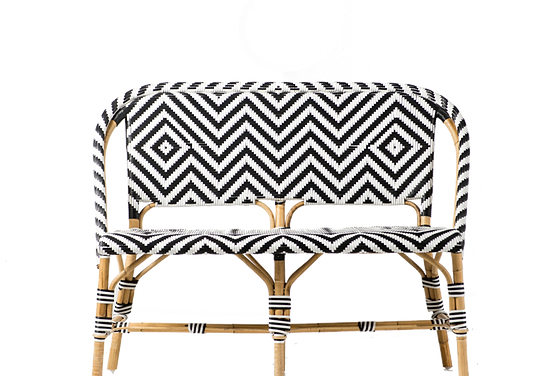 French Bistro Chair Black/Yellow With Arms