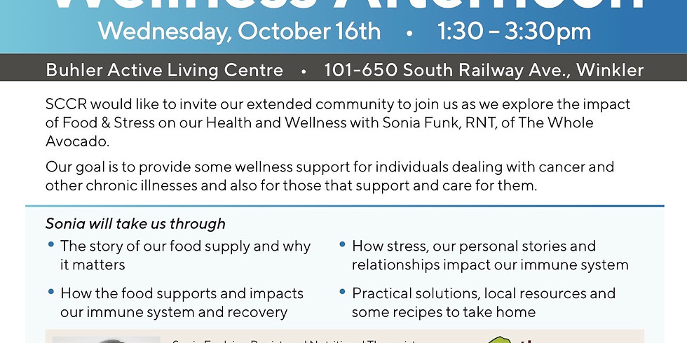 Wellness Afternoon with SCCR