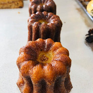 All our yummy Canele lined up neatly in