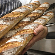 Cradling some fresh baguette babies this