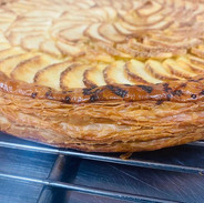 Cook book worthy shot of our apple pie :