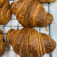 Croissant fresh out of the oven... come
