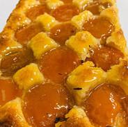 Apricot Frangipane Tart. Sweet frangipan