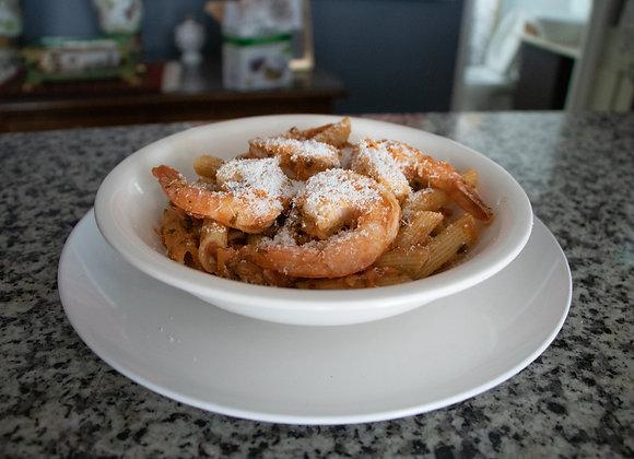 Pasta Pomodoro con Camarones  (Chef Ana Paula Mendoza)