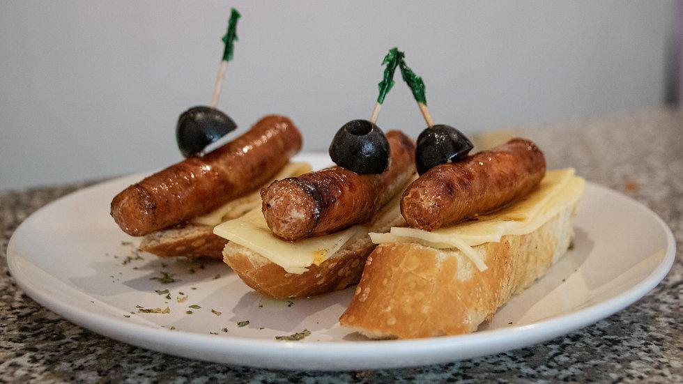 Orden de 3 Montaditos Chistorra (Chef Diana Rosales)