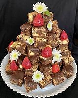 Torre de Brownies Marmoleados con Cheese