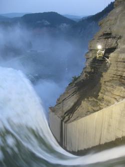 Bennett Dam Spillway