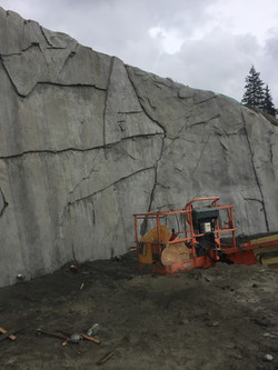 Rock-Carved Structural Wall