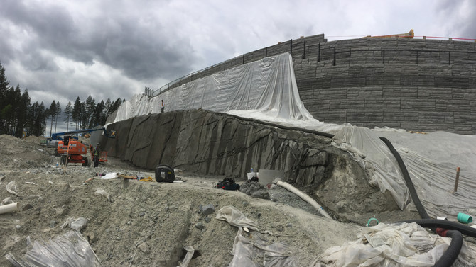 Contruction on Burke Mountain