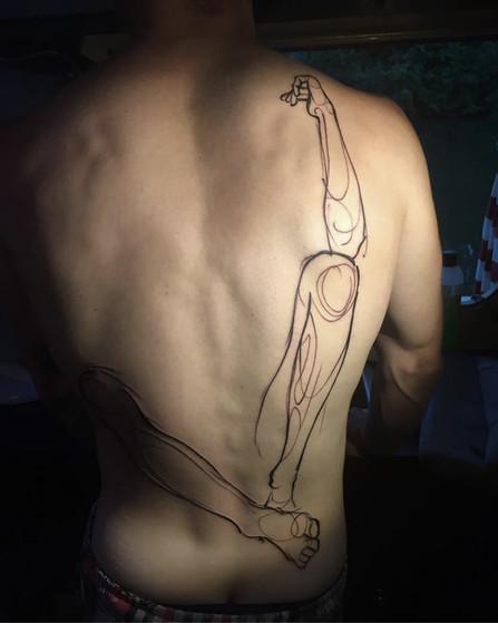 Joe Tonté - tatouage nomade - festival corps 2